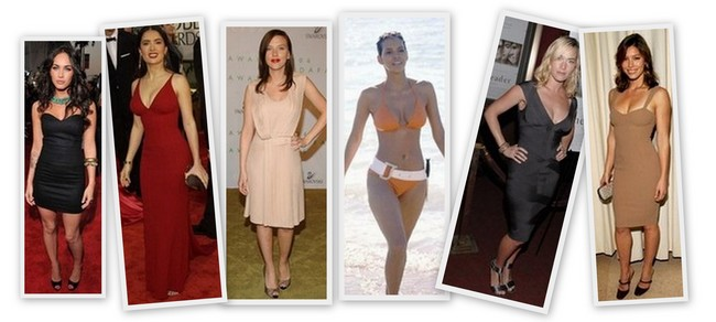 celebs-with-hourglass-shape