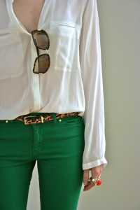 leopard and green